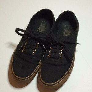 Vans Canvas Off the Wall 9.5 M 11.0 W Black & Tan